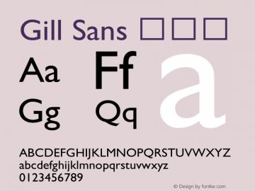 Gill Sans 细斜体 8.0d2e1 Font Sample