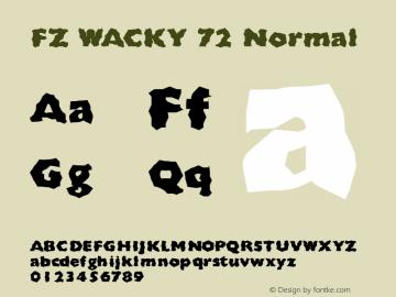 FZ WACKY 72 Normal 1.000 Font Sample