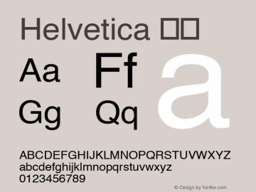 Helvetica 细体 8.0d10e1 Font Sample
