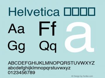 Helvetica 细伪斜体 8.0d10e1 Font Sample