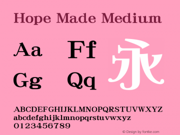 Hope Made Medium 7.1d1e1 Font Sample
