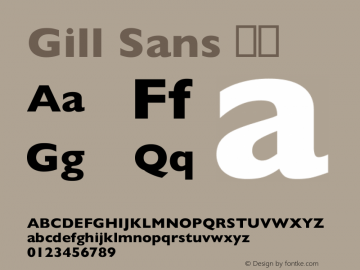 Gill Sans 细体 8.0d3e1 Font Sample