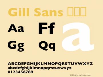 Gill Sans 细斜体 8.0d3e1 Font Sample