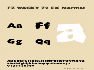 FZ WACKY 72 EX Normal 1.000 Font Sample