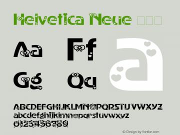 Helvetica Neue 超细体 7.1d2e5图片样张