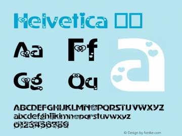 Helvetica 粗体 8.0d10e1 Font Sample