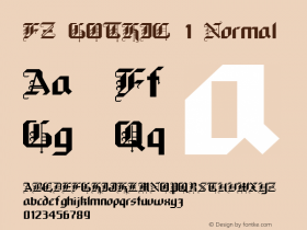FZ GOTHIC 1 Normal 1.000 Font Sample