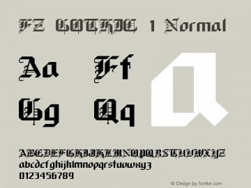 FZ GOTHIC 1 Normal 1.0 Mon May 09 15:39:57 1994 Font Sample