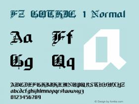 FZ GOTHIC 1 Normal 1.0 Mon Jan 24 23:16:28 1994 Font Sample