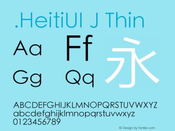 .HeitiUI J Thin 9.0d8e1图片样张