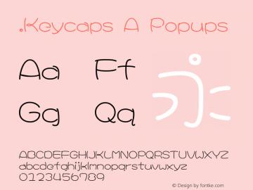 .Keycaps A Popups 10.0d12e1 Font Sample