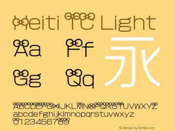 Heiti TC Font Family Heiti TC-Heiti Typeface-Fontke com