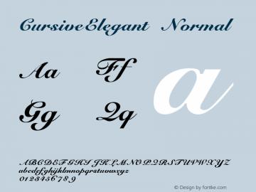 CursiveElegant Normal 1.000 Font Sample