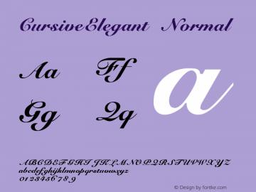 CursiveElegant Normal 1.0 Wed Nov 18 15:21:28 1992 Font Sample