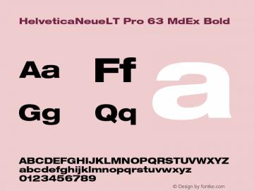 HelveticaNeueLT Pro 63 MdEx Bold Version 1.000;PS 001.000;Core 1.0.38 Font Sample