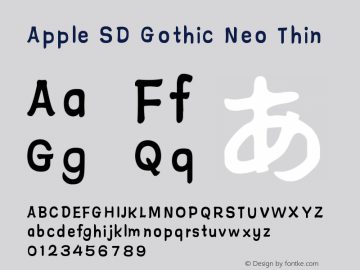 Apple SD Gothic Neo Font,Apple SD Gothic Neo Thin Font,Apple