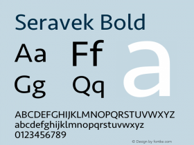 Seravek Bold 9.0d3e1图片样张