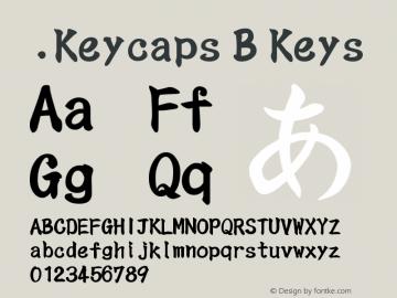 .Keycaps B Keys 10.5d23e8 Font Sample