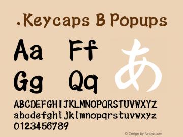 .Keycaps B Popups 10.5d23e8 Font Sample