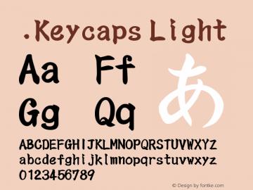 .Keycaps Light 10.5d23e8 Font Sample