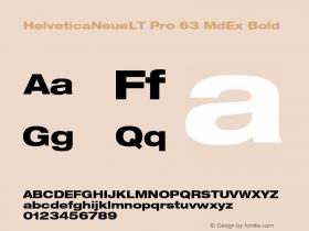 HelveticaNeueLT Pro 63 MdEx Bold Version 1.000;PS 001.000;Core 1.0.38图片样张