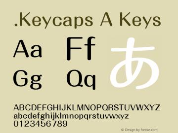 .Keycaps A Keys 10.5d23e8 Font Sample