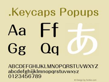 .Keycaps Popups 10.5d23e8 Font Sample