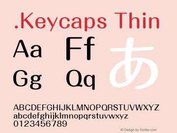 .Keycaps Thin 10.5d23e8 Font Sample
