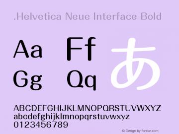 .Helvetica Neue Interface Bold 10.0d38e9图片样张