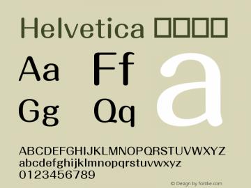 Helvetica 细伪斜体 10.0d4e1 Font Sample