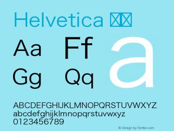 Helvetica 细体 9.0d4e1 Font Sample