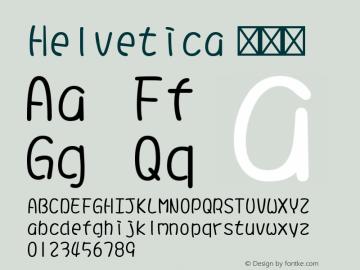 Helvetica 细斜体 9.0d4e1 Font Sample