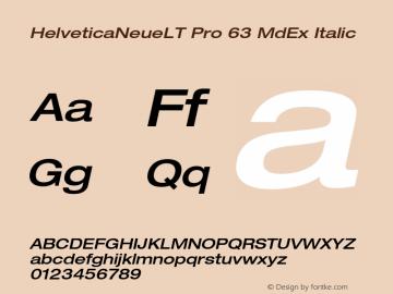 HelveticaNeueLT Pro 63 MdEx Italic Version 1.000;PS 001.000;Core 1.0.38 Font Sample