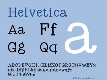 Helvetica 粗斜体 9.0d4e1 Font Sample