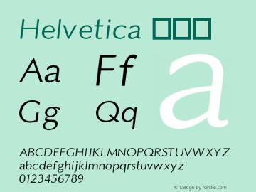 Helvetica 伪斜体 10.0d4e1 Font Sample