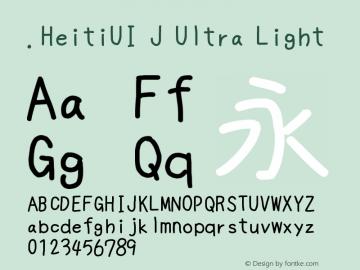 .HeitiUI J Ultra Light 10.0d4e2 Font Sample