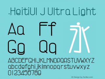 .HeitiUI J Ultra Light 10.0d4e2 Font Sample