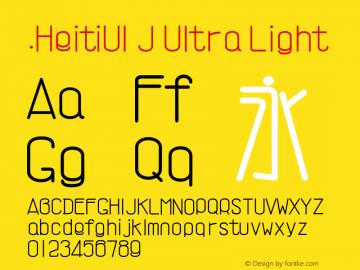 .HeitiUI J Ultra Light 9.0d9e3 Font Sample