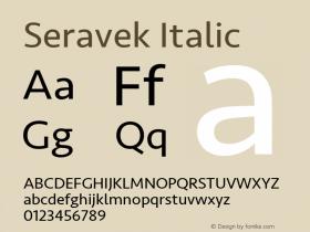 Seravek Italic 9.0d2e1图片样张