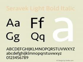 Seravek Light Bold Italic 9.0d2e1图片样张