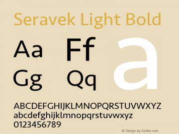 Seravek Light Bold 9.0d2e1 Font Sample