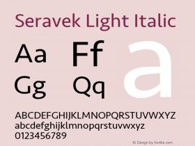 Seravek Light Italic 9.0d2e1图片样张
