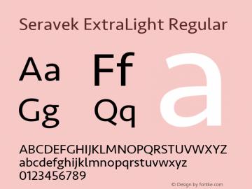 Seravek ExtraLight Regular 9.0d2e1图片样张