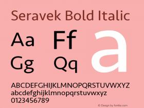 Seravek Bold Italic 9.0d2e1图片样张