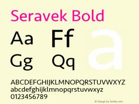 Seravek Bold 9.0d2e1图片样张