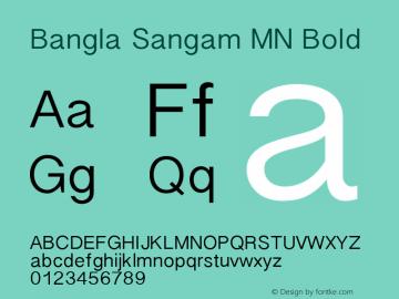 Bangla Sangam MN Bold 8.0d1e1 Font Sample