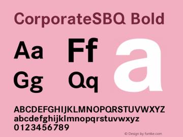 corporatesbq bold font