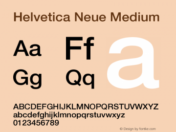 Helvetica Neue Medium Version 001.000图片样张