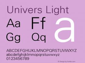 Univers Light Version 001.000 Font Sample