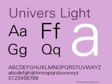 Univers Light Version 001.000图片样张